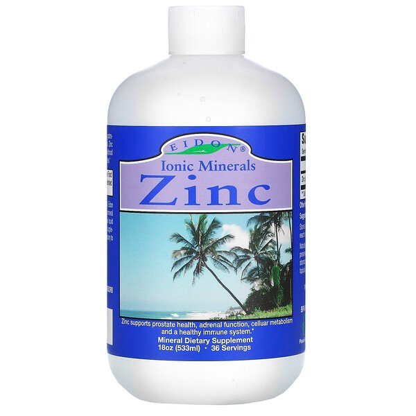 Eidon Mineral Supplements, Minerais Iônicos, Zinco, 533 ml (18 oz)