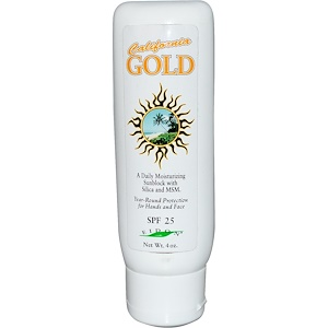 Эйдон Минерал Саплиментс, California Gold, Moisturizing Sunblock, SPF 25, 4 oz отзывы