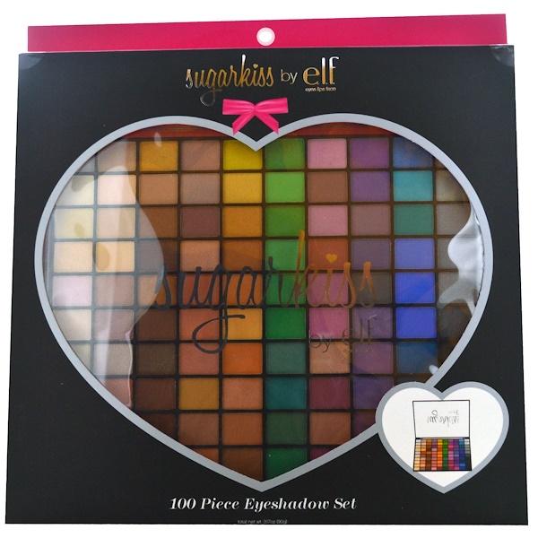 E.L.F. Cosmetics, Sugarkiss, 100 Piece Eyeshadow Set, 3.17 oz (90 g) (Discontinued Item)