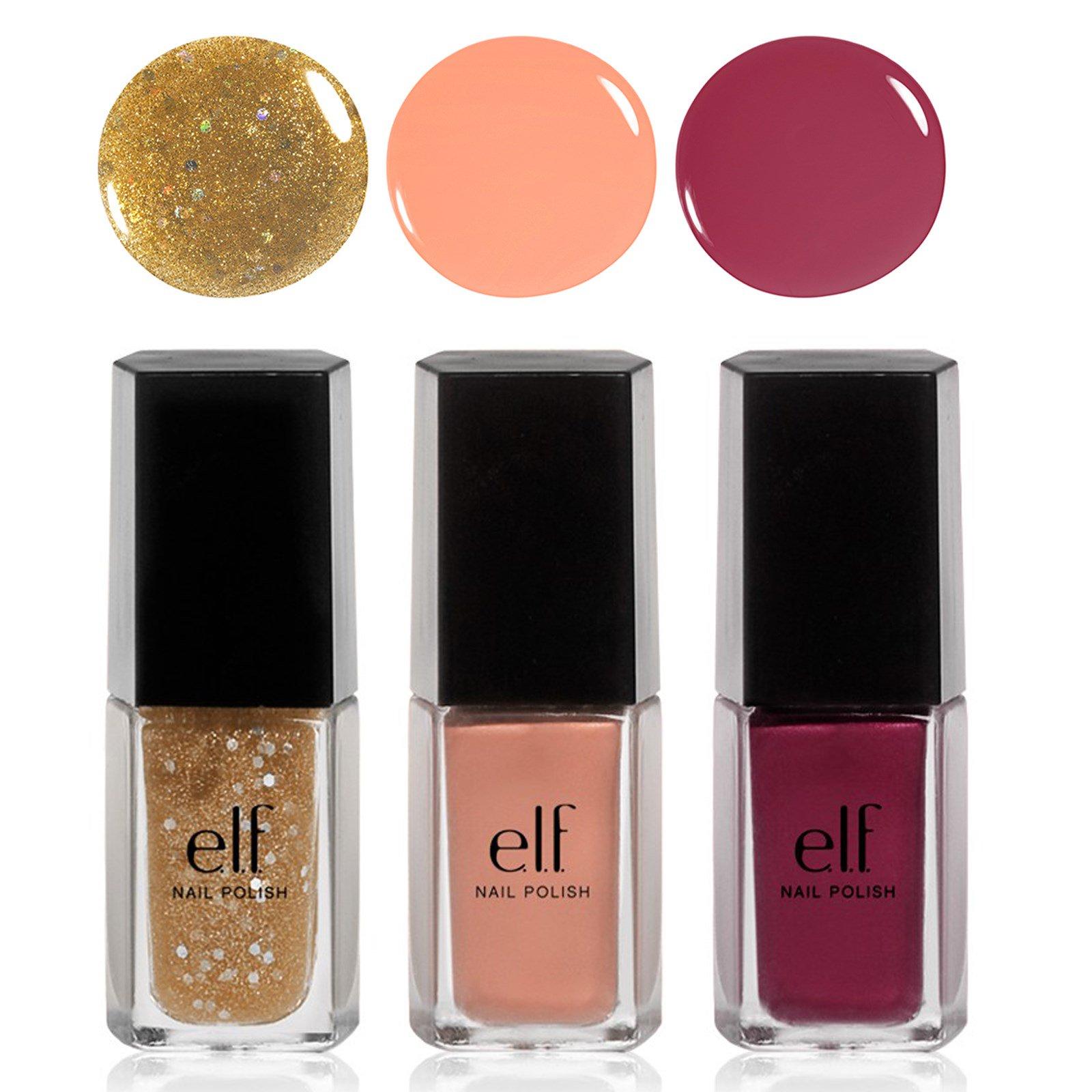 E.L.F. Cosmetics, Glam Bam Nail Polish Set, 0.203 fl oz (6 ml) Each ...
