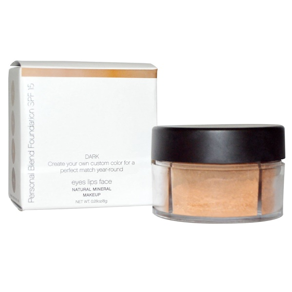 E.L.F. Cosmetics, Mineral Personal Blend Foundation SPF 15, Dark, 0.28 oz (8 g) (Discontinued Item)