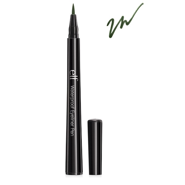 E.L.F., Waterproof Eyeliner Pen, Hunter Green, 0.06 oz (1.8 g) (Discontinued Item)