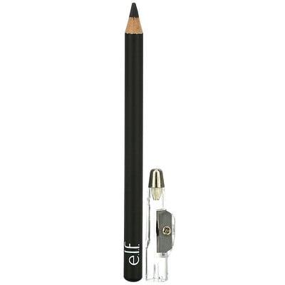 E.L.F. Satin Eyeliner Pencil, Black, 0.03 oz (0.85 g)