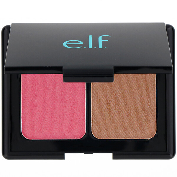 E.L.F., Aqua Beauty, Aqua-Infused Blush & Bronzer, Bronzed Pink Beige, 0.29 oz (8.5 g) (Discontinued Item)