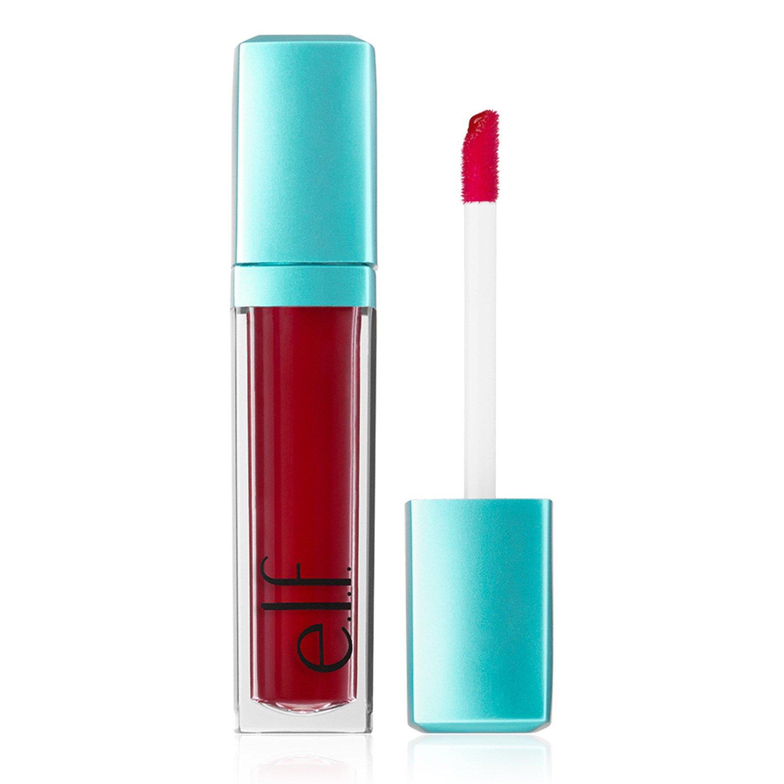 E.L.F. Cosmetics, Водная красота, сияющий оттеночный гель для губ, Красное сияние, 0,20 унц. (6 мл)