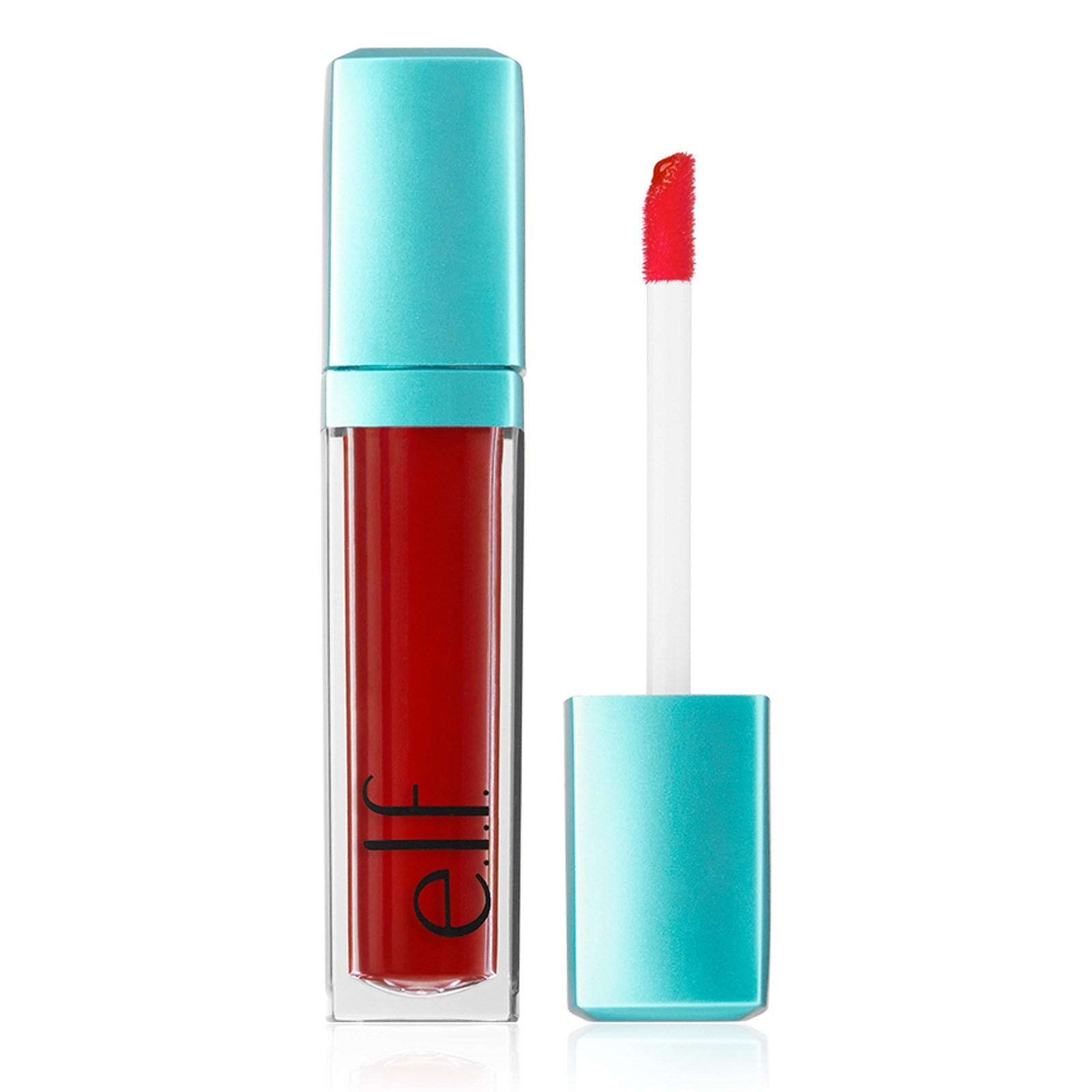 E.L.F. Cosmetics, Водная красота, сияющий оттеночный гель для губ, Red Orange Wash, 0,20 ж. унц. (6 мл)