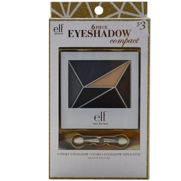 E.L.F., 6 Piece Eyeshadow Compact, Smokey Eyes, 0.25 oz (7 g) (Discontinued Item)