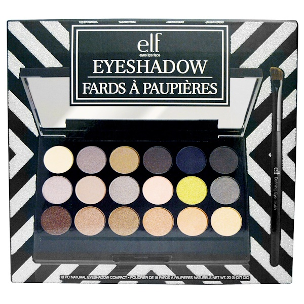 E.L.F., Natural Eyeshadow Compact, 18 Pieces, 0.71 oz (20 g) (Discontinued Item)