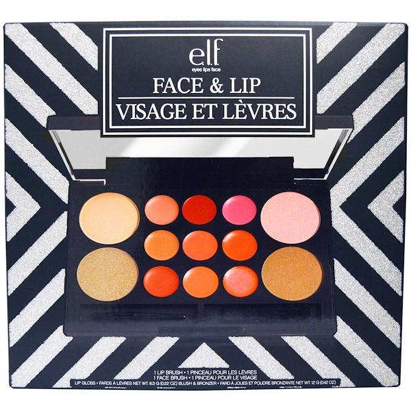 E.L.F. Cosmetics, Face & Lip Set, 0.22 oz (6.3 g) / 0.42 oz (12 g) (Discontinued Item)