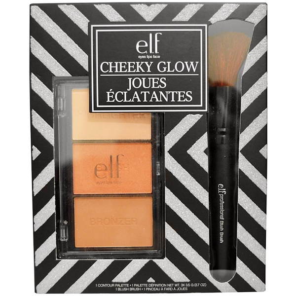 E.L.F., Cheeky Glow Set, 3 X 3.7 oz (3.5 g ) Each (Discontinued Item)