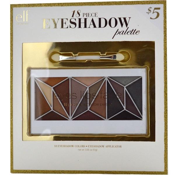 E.L.F., Eyeshadow Palette, 18 Piece, 0.35 oz (10 g) (Discontinued Item)