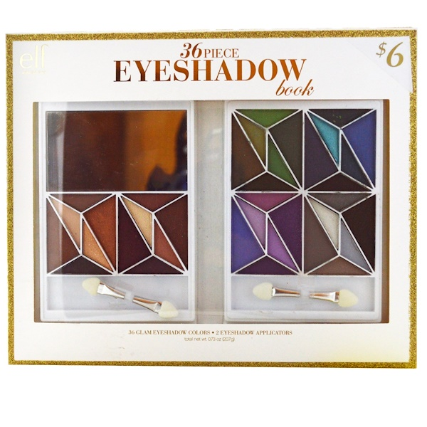 E.L.F. Cosmetics, 36 Piece Eyeshadow Book, Glam, 0.73 oz (20.7 g) (Discontinued Item)