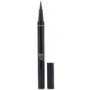 ЕЛФ Косметикс, H2O Proof Eyeliner Pen, Jet Black, 0.02 fl oz (0.7 ml) отзывы покупателей