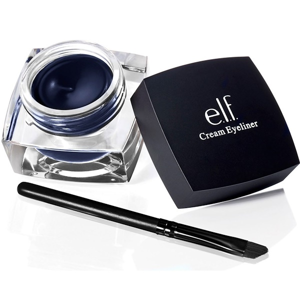 E.L.F., Studio Cream Eyeliner, Midnight, 0.17 oz (4.7 g) (Discontinued Item)