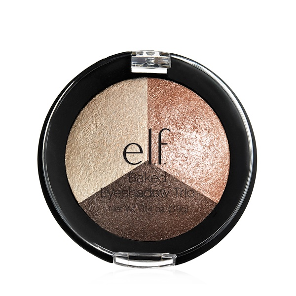E.L.F. Cosmetics, Baked Trio Eyeshadow, Peach Please , 0.14 oz (3.9 g) (Discontinued Item)