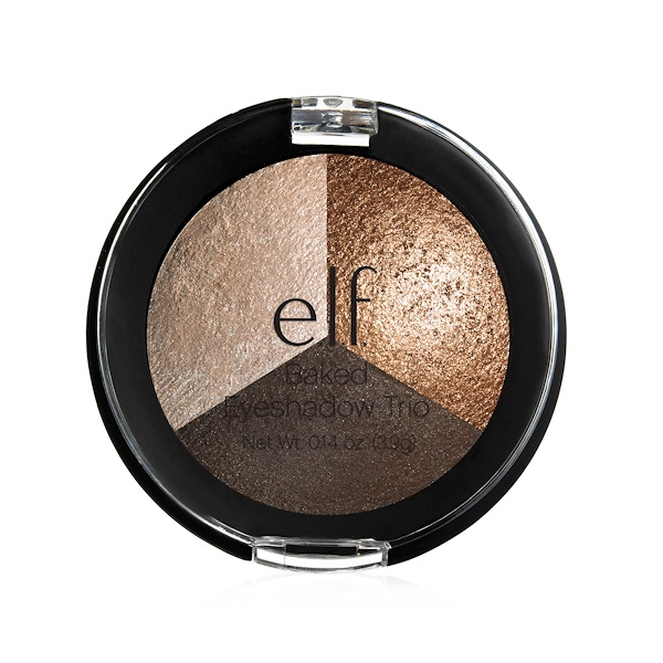 E.L.F. Cosmetics, Baked Trio Eyeshadow, Brown Bonanza, 0.14 oz (3.9 g) (Discontinued Item)