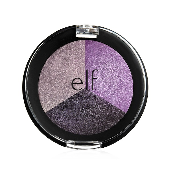 E.L.F., Baked Eyeshadow Trio, Lavender Love, 0.14 oz (3.9 g) (Discontinued Item)