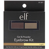 E.L.F. Cosmetics, Eyebrow Kit, Gel & Powder, Light, 0.05 oz (1.4 g), 0.08 oz (2.3 g)