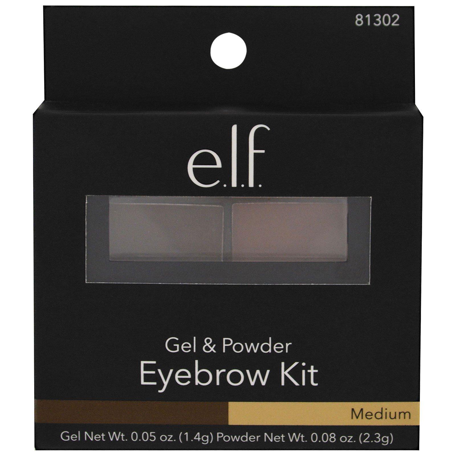 Elf Cosmetics Eyebrow Kit Gel Powder Medium Gel 005 Oz