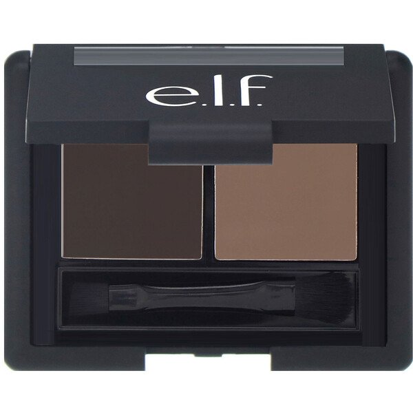 E.L.F., Eyebrow Kit, Gel & Powder, Medium, Gel 0.05 oz (1.4 g) - Powder 0.08 oz (2.3 g)