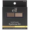 E.L.F. Cosmetics, Набор для оформления бровей: гель и пудра, пепельный оттенок, 0,123 унции (3,5 г)
