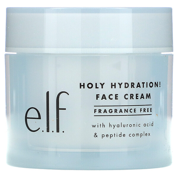 E.L.F., Holy Hydration! Face Cream, Fragrance Free, 1.8 oz (50 g)