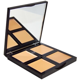 E.L.F. Cosmetics, Paleta de base, Clara/Media, 0.43 oz (12.4 g)