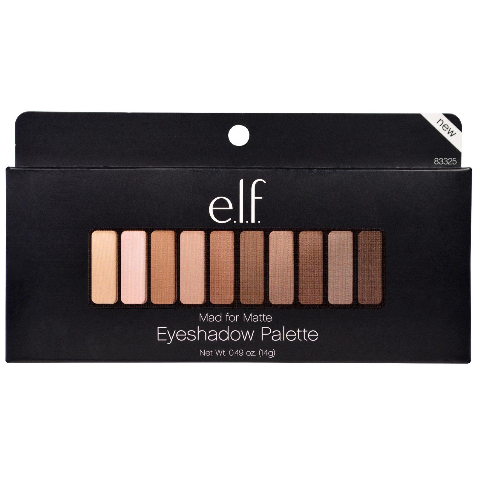 E.L.F. Cosmetics, Mad for Matte, paleta de sombras, 0.49 oz (14 g ...