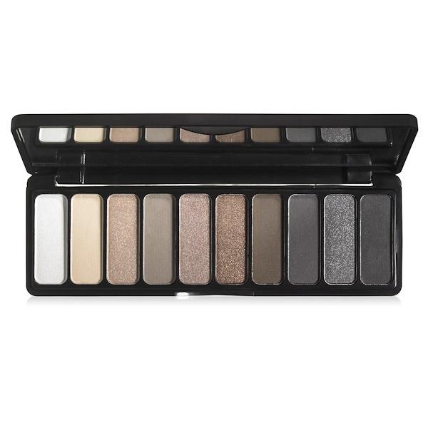 E.L.F., Eyeshadow Palette, Everyday Smoky, 0.49 oz (14 g) (Discontinued Item)