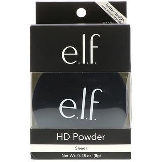 E.L.F. Cosmetics, HDパウダー、シアー、0.28オンス(8g)