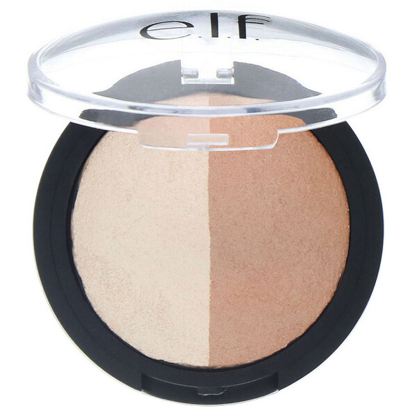 Baked Highlighter & Bronzer, Bronzed Glow, 0.183 oz (5.2 g)