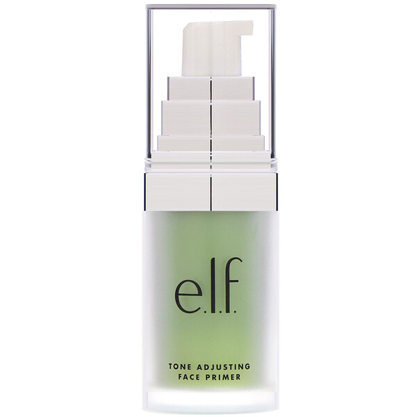 E.L.F., Tone Adjusting Face Primer, Neutralizing Green, 0.48 oz (13.7 g)