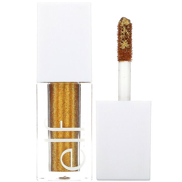 E.L.F., Liquid Glitter Eyeshadow, 24K Gold, 0.1 fl oz (3 ml)