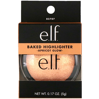 E.L.F. Cosmetics, Baked Highlighter, Apricot Glow, 0.17 oz (5 g)
