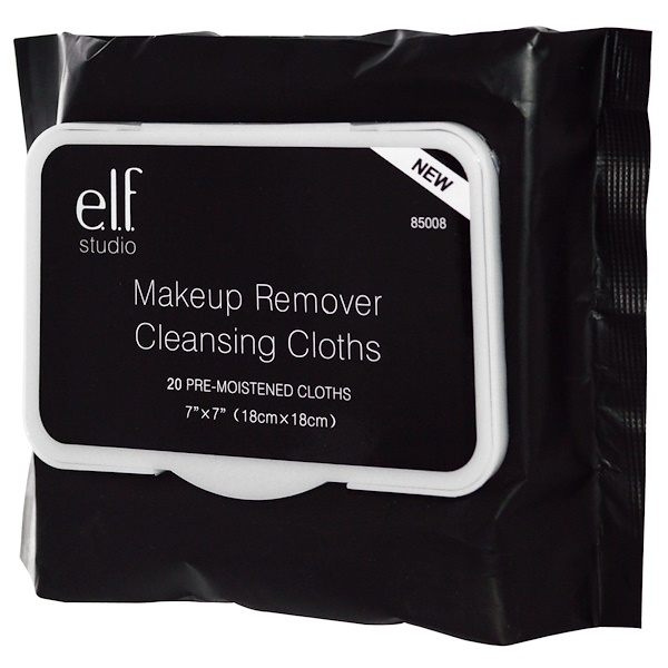E.L.F., Makeup Remover Cleansing Cloths, 20 Pre-Moistened Cloths
