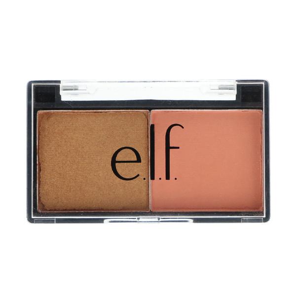 E.L.F. Cosmetics, ベストフレンドアイシャドーデュオ、ピーチスクワッド、0.11オンス (3.0 g)