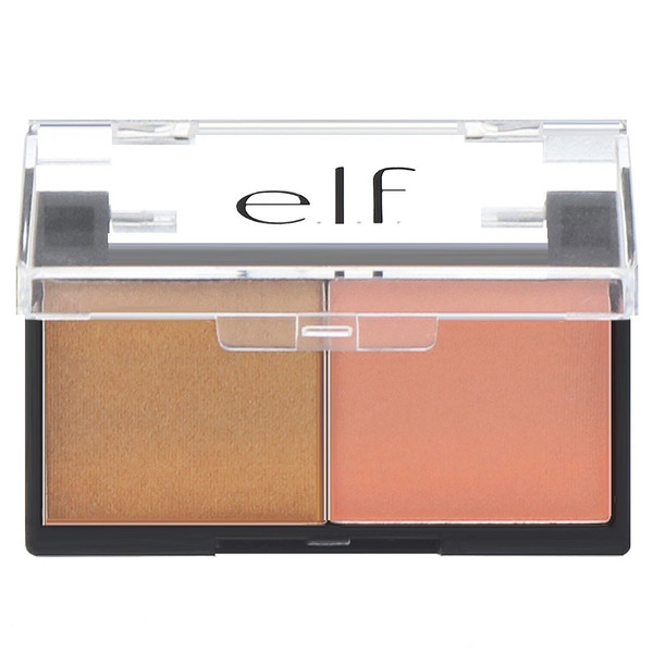E.L.F. Cosmetics, Best Friend Eyeshadow Duo, Peach Squad, 0.11 oz (3.0 g)