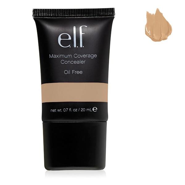 E.L.F., Studio, Maximum Coverage Concealer- Oil Free, Beige, 0.70 fl oz (20 ml) (Discontinued Item)