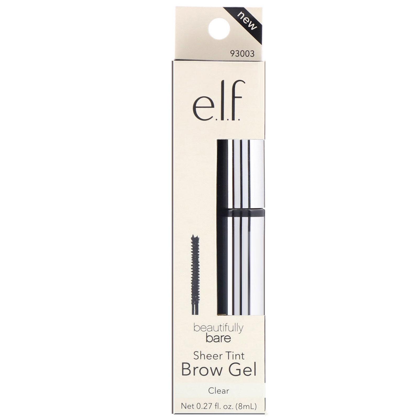E L F  Cosmetics, Beautifully Bare Sheer Tint Brow Gel, Clear, 0 27