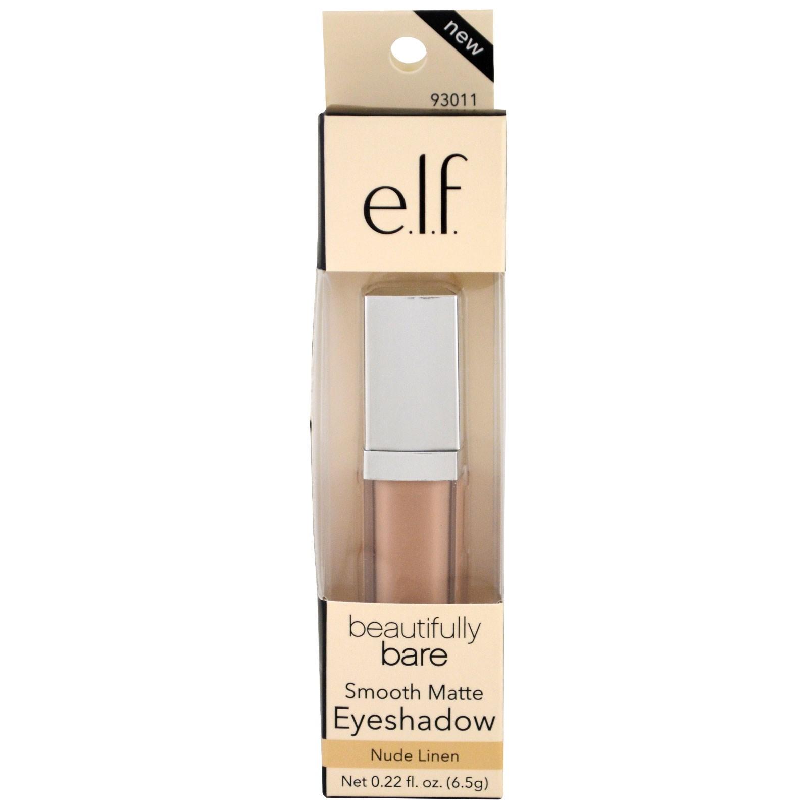 E.L.F. Cosmetics, Hermosamente desnuda, Sombra mate suave, Lino ...