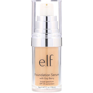 E.L.F. Cosmetics, Beautifully Bare Foundation Serum with Goji Berry, Broad Spectrum SPF 25 Sunscreen, Light/Medium, 0.47 fl (14 ml)