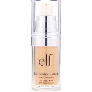 ЕЛФ Косметикс, Beautifully Bare, Foundation Serum with Goji Berry, Broad Spectrum SPF 25 Sunscreen, Light/Medium, 0.47 fl (14 ml) отзывы покупателей