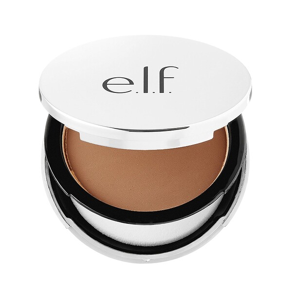 E.L.F. Cosmetics, Beautifully Bare, Sheer Tint Finishing Powder, Dark/Deep, 0.33 oz (9.4 g) (Discontinued Item)