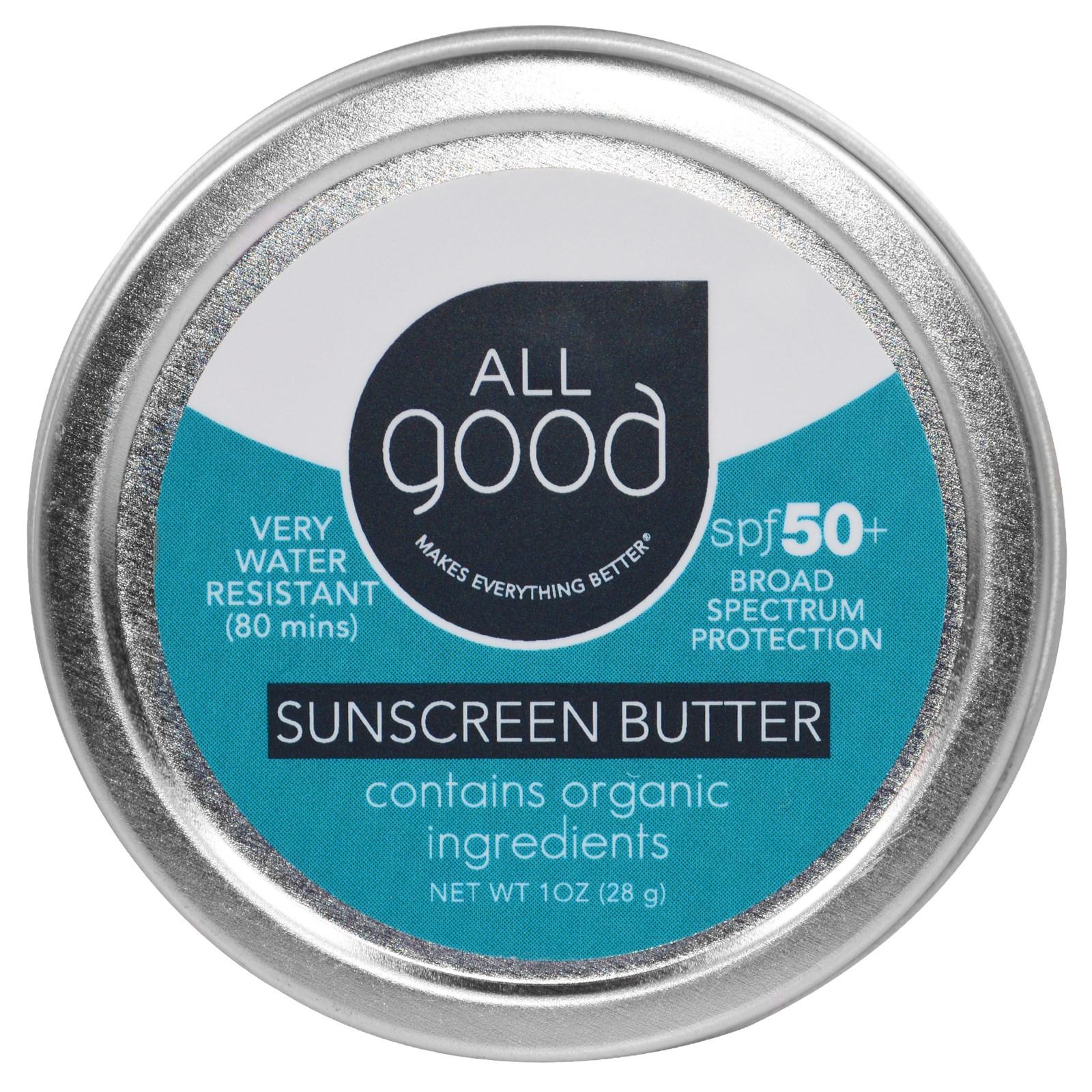 "All Good Products, ""Все хорошее"", солнцезащитное масло, SPF 50, 1 унция (28 г)"