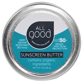 All Good Products, All Good, Manteiga Proteção Solar, FPS 50, 28 g