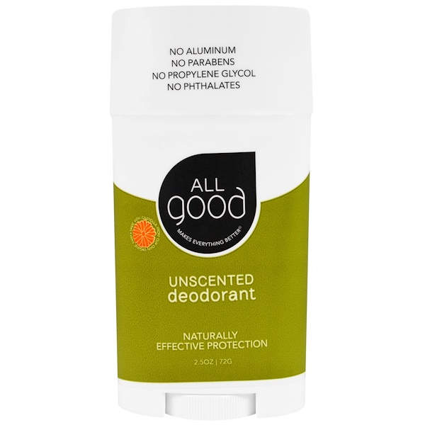 All Good Products, All Good, Deodorant, Unscented, 2.5 oz (72 g) (Discontinued Item)