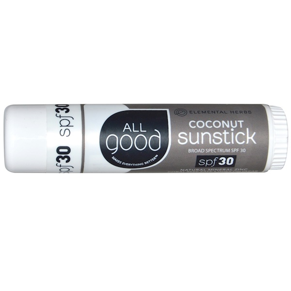 All Good Products,  Coconut Sunstick, SPF 30, .6 oz (Discontinued Item)