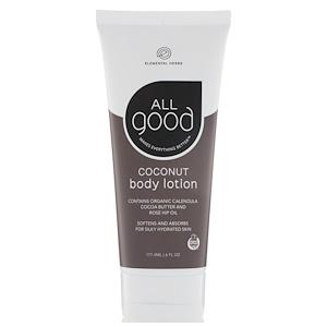 All Good Products, Coconut Body Lotion, 6 fl oz (177.4 ml)
