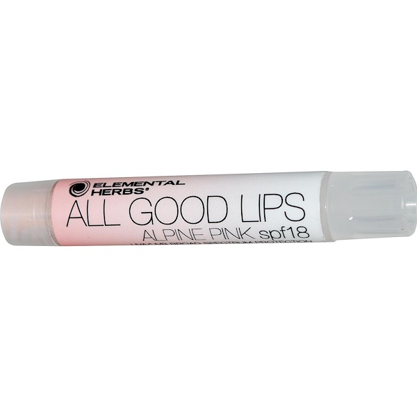 All Good Products, All Good Lips - Tinted, SPF 18, Alpine Pink, 2.55 g (Discontinued Item)