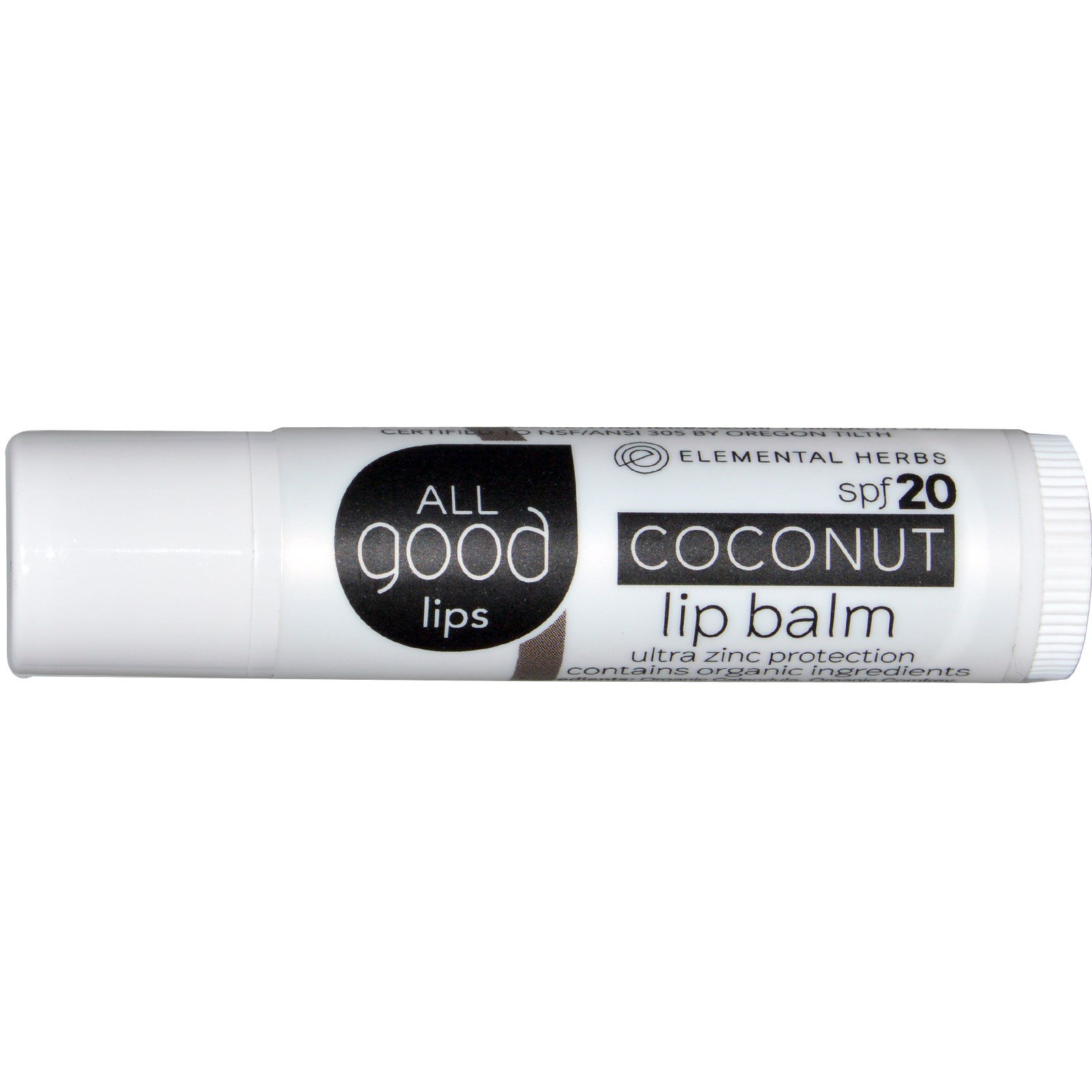 Elemental Herbs - All Good Lips SPF 20 Lip Balm Unscented - 4.25 Gram(s) (pack of 4) MISSAMMY 180 Needles Unchangeable Head Eye Care System Micro Needle Roller (0.25mm)